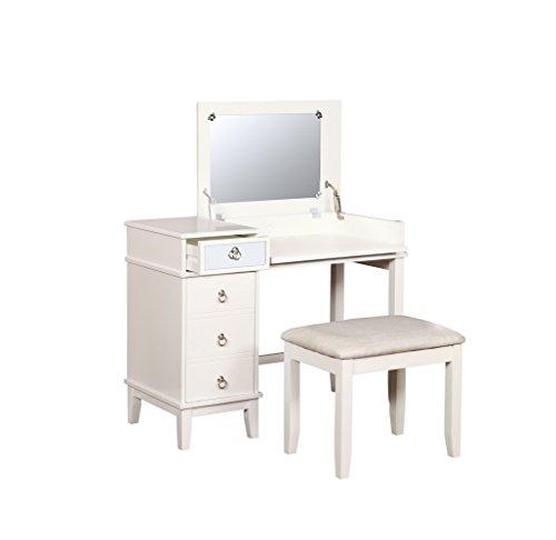 Linon  Vanity Set, White