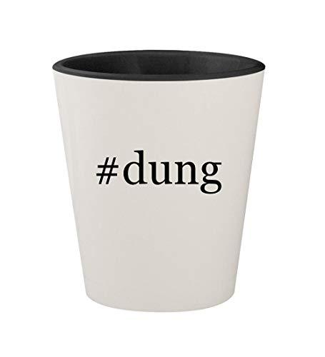 #dung - Ceramic Hashtag White Outer & Black Inner 1.5oz Shot Glass