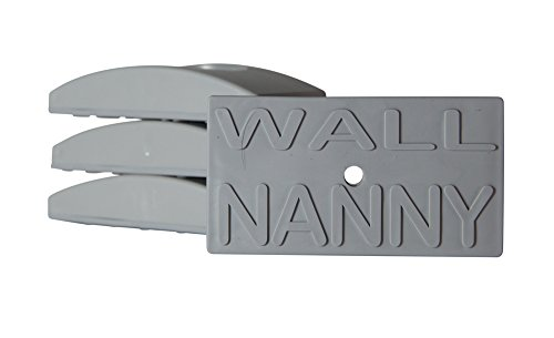 Wall Nanny (4 Pack - Made in USA) Indoor Baby Gate Wall Protector - No Safety Hazard on (Pressure Gate Door)