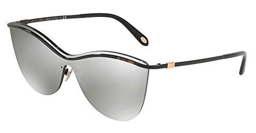Tiffany & Co. Women TF3058 35 Black/Silver Sunglasses - Tiffany Sunglasses Butterfly