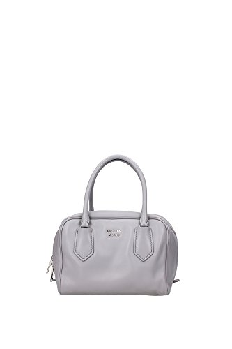 Prada Bauletto Small Soft Calf Granito Acquama 1BB011 Tote