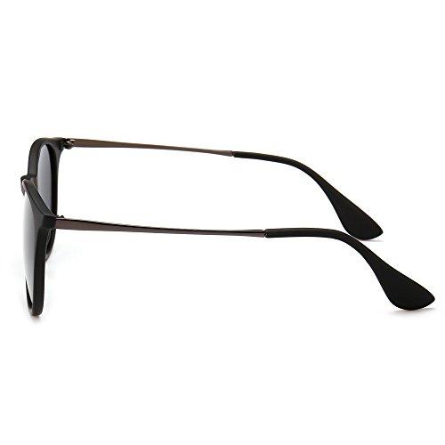 20bc1e5549c SUNGAIT Vintage Round Sunglasses for Women Classic Retro Designer Style  (Black Frame Matte Finish