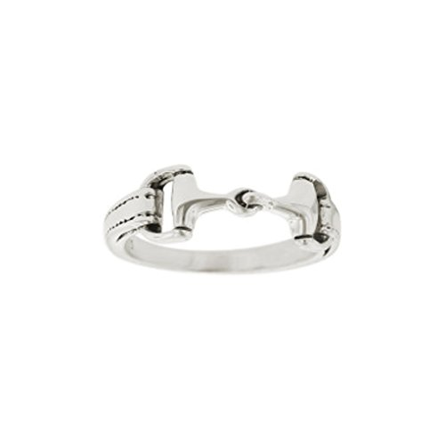 Kabana Horse Snaffle Bit Sterling Silver Ring Size 7 ()