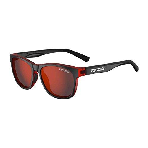 Tifosi Optics Swank Single Lens Sunglasses (Crimson/Onyx/Smoke (Frame Crimson Red Lens)