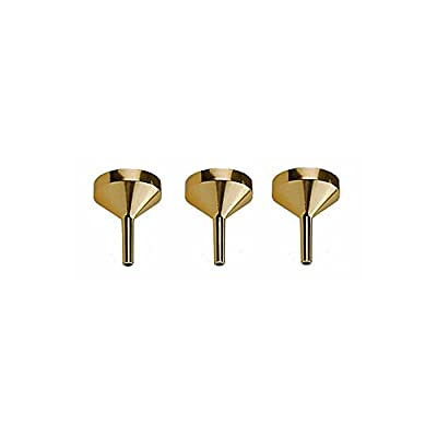 Perfume Funnel Set - 3 Pieces, Gold Metal Small Funnel (Top Quality) for Refilling Empty Perfume Bottles and Atomizers from Perfume Studio