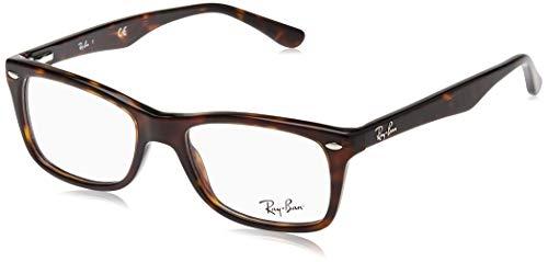 Ray-Ban RX5228 Square Eyeglass Frames, Dark Havana/Demo Lens, 50 mm