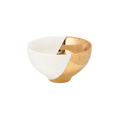 10 Strawberry Street 2 Tone Cereal Bowl - White & Gold - Set of 4