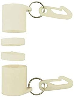"""product image for Gettysburg Flag Works NeverFurl Non-Tangle Flagpole Rings Kit 2"""" White"""