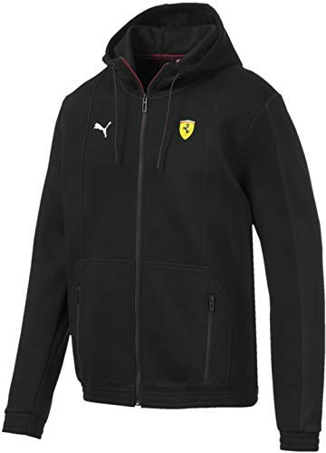 (PUMA Men's Scuderia Ferrari Hooded Sweat Jacket, Black, S)