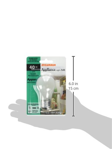 SYLVANIA Home Lighting 10117 Incandescnet Bulb, A15-40W-2850K, Inside Frost Finish, Medium Base, Pack of 1