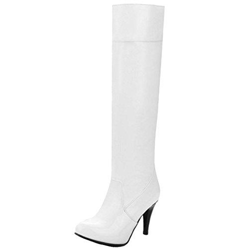 COOLCEPT Damen Stiefel Ohne Verschluss White