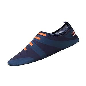 Nikuya Men Women Printed Quick-Dry Swim Surf Socks Yoga Skin Sports Beach Shoes (Blue, 36)
