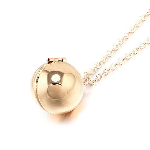 Locket Anklet - TenDollar Best Gifts Necklace Locket Necklace Secret Ball Pendant Spherical Necklace (Gold)