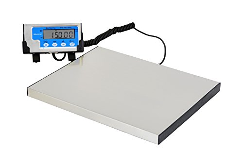 Salter-Brecknell LPS150 Portable Shipping Scale with LCD Display, 12'' Length x 15'' Width x 1'' Height, 150lbs Capacity by Brecknell