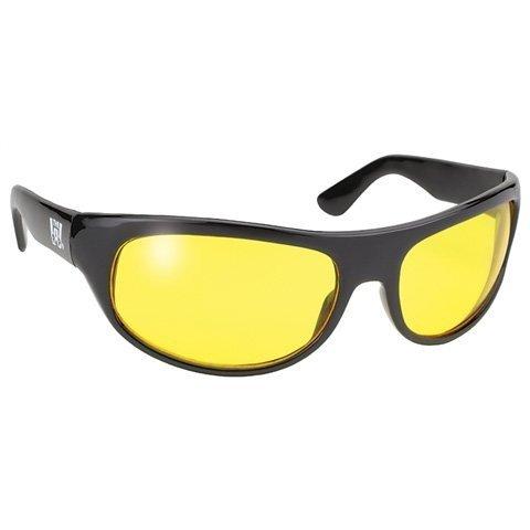 Pacific Wrap Sunglasses - Pacific Coast Sunglasses Wrap Sunglasses - Black Frame - Yellow Lens