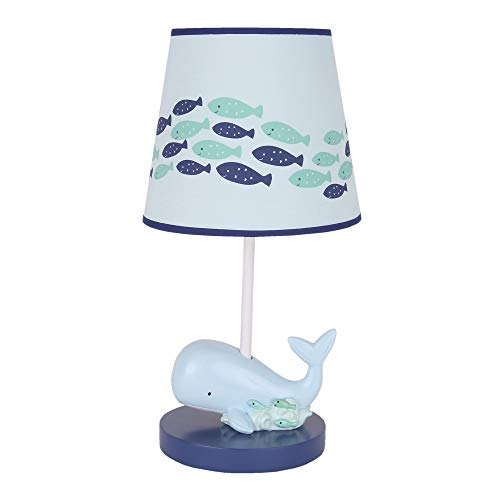 Lambs & Ivy Oceania Blue Ocean/Sea/Nautical Nursery Lamp with Shade & Bulb (Aqua Seas Table Lamp)