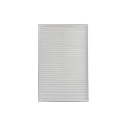 SONGLIN Non-Woven Shade Pleated Curtain Self-Adhesive Pleated Fabric Shade for Bathroom Kitchen,White,90 150