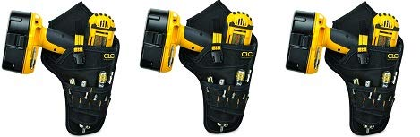 CLC 5023 Deluxe Cordless Poly Drill Holster, Black (3-(Pack))