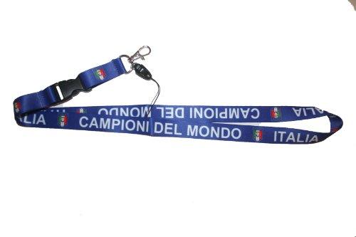 Italia Italy Campioni Del Mondo Country Lanyard Keychain Passholder .. 24 Inches Long.. New