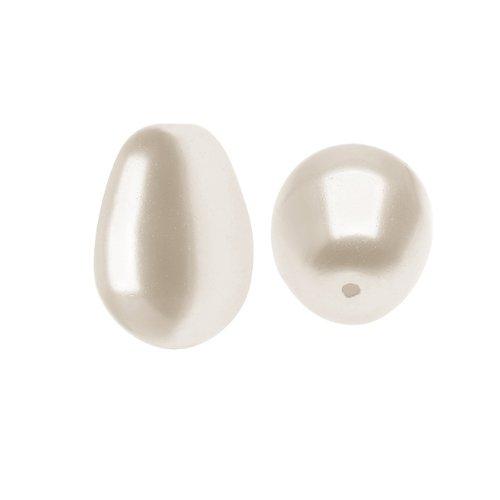 (SWAROVSKI ELEMENTS Crystal Faux Pearls #5821 11mm Cream Tear Drop (4))