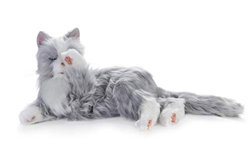 Joy for All Robotic Reclining Silver Grey Cat - for Ages 2 to 102 by Memorable Pets (Image #5)