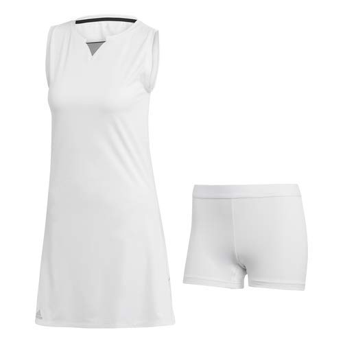 adidas Women's Club Tennis Dress, White, Medium