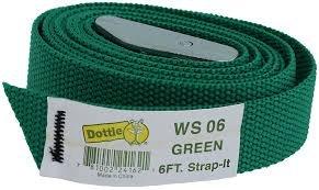 L.H. WS 06 GREEN TIE DOWN STRAP 6'