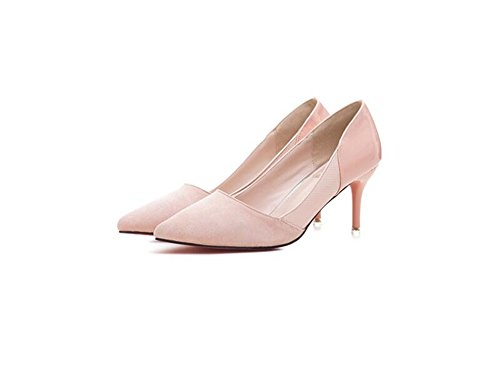 Toe Sexy Women Pink High Dress Pointy Heels Shoe Pumps Party XxPZqS