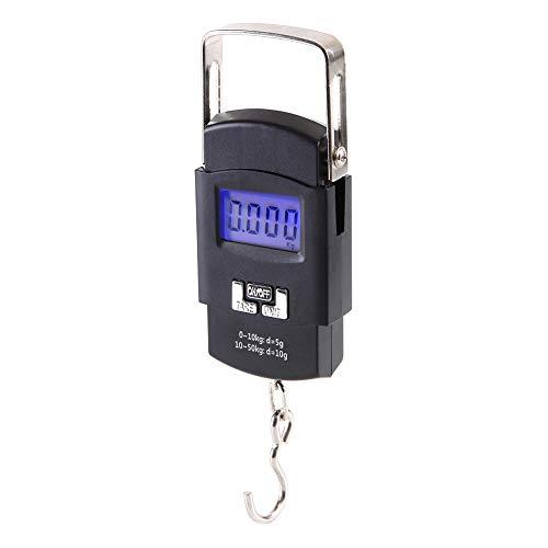 Ho Scale Products Type - Shentesel 50Kg/10g Digital Electronic Scale Luggage Hanging Weight Hook Balance - Black