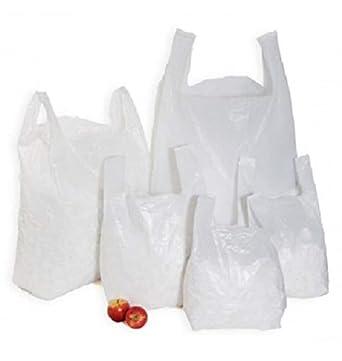 Sabco - 100 bolsas de plástico resistentes de estilo chaleco ...