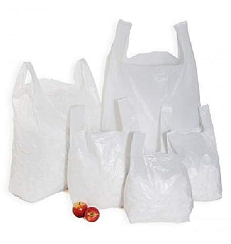 Sabco – 10 x 15 x 18 pulgadas, bolsas de transporte de plástico estilo chaleco, 100% reciclables, respetuosas con el medio ambiente, Sabco, 1