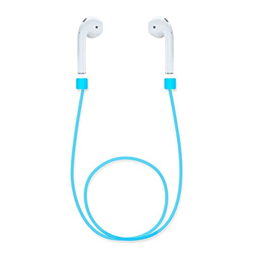Rurah Anti Lost Rope For AirPods Soft Silicone Rope For iPhone 7 & 7 Plus AirPods Strap Sports Wire Anti Lost Rope Blue Color -  2Rurah