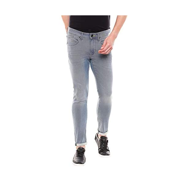 Flying Machine Men's Skinny-Jackson Jeans (FMJN8574_Blue_36) 2021 June Care Instructions: Machine Wash Fit Type: Skinny 100 % COTTON