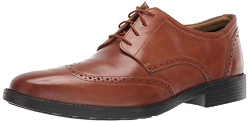 Bostonian Men's Birkett Wing Oxford, tan Leather, 090 M - Mens Dress Bostonian Shoes