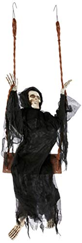 Fun World Unisex-Adult's Swinging Reaper, Multi, Standard