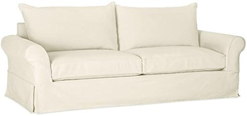 "The Durable Cotton Sofa Cover Only ( Width: 81""~ 83.5"", Not 92"" ! ) Fits Pottery Barn PB Comfort Roll ARM Sofa ( Not Grand Sofa). A Durable Slipcover Replacement. Beige (Knife Edge) - Grand Sofa Knife"