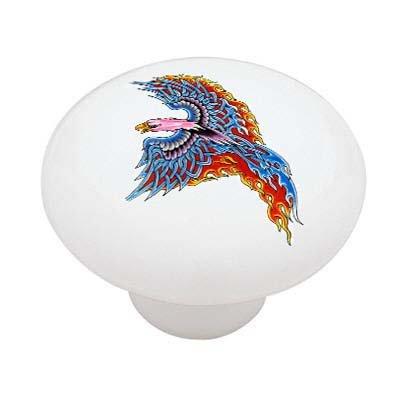 (Phoenix Ceramic Drawer Knob)