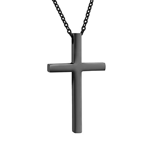 XIUDA Sturdy Cross Pendant Necklace for Women Men with Adjustable Chain(1.690.980.17