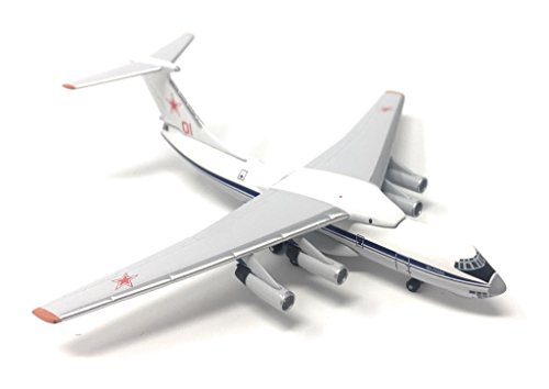 - Russian Air Force Red 01 IL-76/976 Airplane Miniature Model Metal Die-Cast 1:500 Part# A015-IF5176004