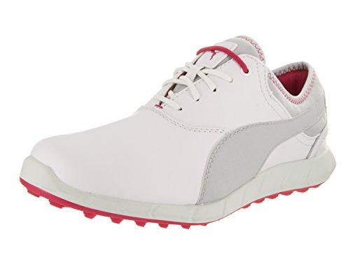 Puma Women's Ignite Spikeless Golf Shoes White/Glacier Grey   6   M