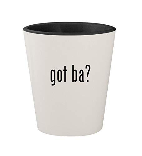 got ba? - Ceramic White Outer & Black Inner 1.5oz Shot Glass