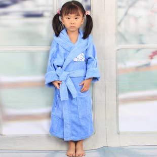 Baiza Home Batas de algodón para niños, niños y niñas, Batas de baño,