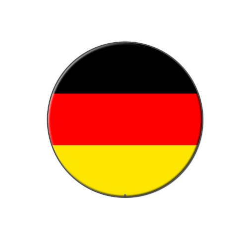 Germany Flag Lapel Pin (Graphics and More German Germany Flag - Metal Tie Tack Hat Lapel Pin Pinback)