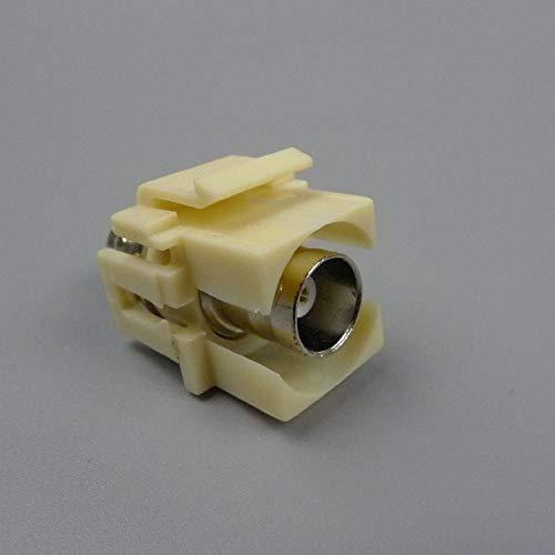 Jammas keystone BNC connector black ivory color - (Standard: Connector)