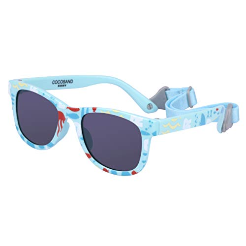 COCOSAND Gift Set Navigator Toddler Baby Sunglasses with Straps BPA free ()