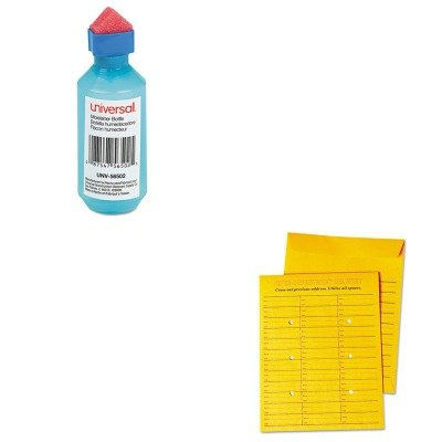 KITUNV56502UNV63570 - Value Kit - Universal Interoffice Press amp;amp; Seal Envelope (UNV63570) and Universal Squeeze Bottle Moistener ()