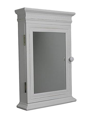 Spiegelschrank holz antik  elbmöbel Schlüsselkasten Schlüsselkasten Spiegelschrank antik weiß ...