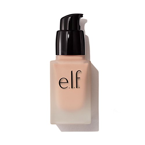e.l.f. Flawless Finish Foundation Liquid Makeup, Semi-Matte Finish with Long-Lasting Coverage, Porcelain, .68 Ounces