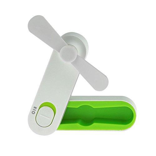 LINGSFIRE Handheld Fan Mini USB Portable Fan Rechargeable Personal Fan Desktop Fan Outdoor Fan for Home and Travel - USB Powered, 2 Speeds Pocket Fan (Green)