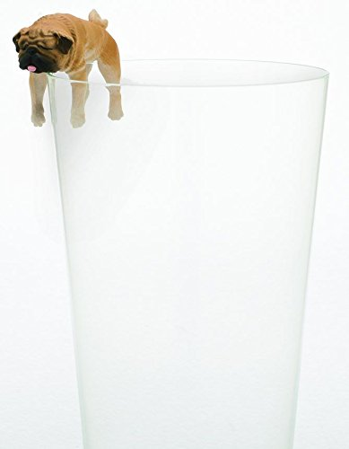Blind Box Includes 1 of 8 Collectable Figurines Kitan Club Putitto Pug Dog Cup Toy Authentic Japanese Design Flat Edges Premium Quality KC-BB-PUG1 Made from Durable Plastic Hangs on Thin